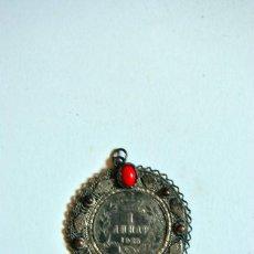 Antigüedades: MEDALLA RUSA CON MONEDA 1925 ANTIGUA DE METAL. Lote 99360911