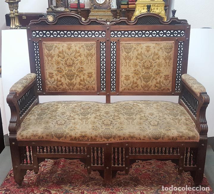 Banco estilo arabe madera de nogal espa a si comprar sof s antiguos en todocoleccion 99343379 - Muebles para restaurar madrid ...