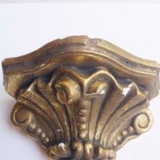 Antigüedades: PRECIOSA PEANA, MENSULA, POLICROMADA CON ORO FINO.. Lote 99371831