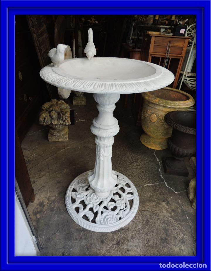 Fuente de jardin con pajaritos todo de hierro comprar en todocoleccion 99372731 - Fuentes de jardin de segunda mano ...