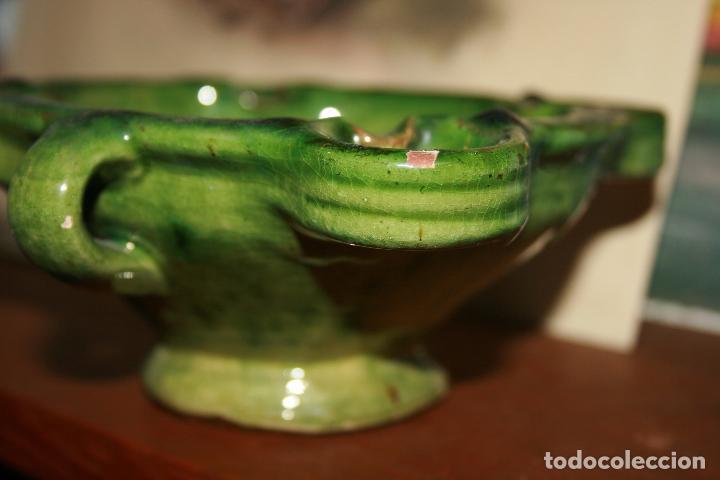Antigüedades: Albacete,La Roda. Cuervera cenicero Simposio Rodense año 1975.color verde muy bonito 15 x 6 cms - Foto 2 - 99381123