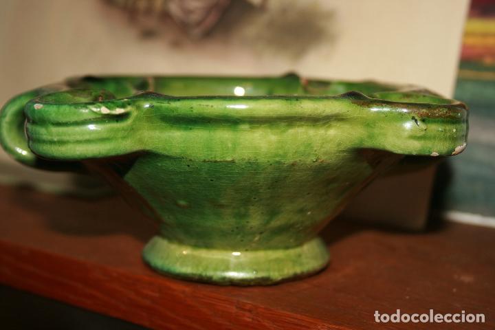 Antigüedades: Albacete,La Roda. Cuervera cenicero Simposio Rodense año 1975.color verde muy bonito 15 x 6 cms - Foto 3 - 99381123