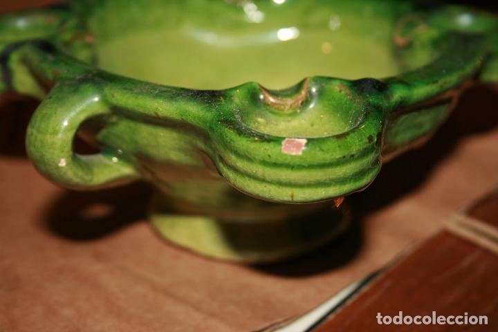 Antigüedades: Albacete,La Roda. Cuervera cenicero Simposio Rodense año 1975.color verde muy bonito 15 x 6 cms - Foto 4 - 99381123