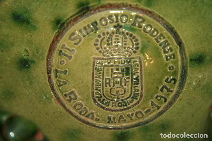 Antigüedades: Albacete,La Roda. Cuervera cenicero Simposio Rodense año 1975.color verde muy bonito 15 x 6 cms - Foto 5 - 99381123