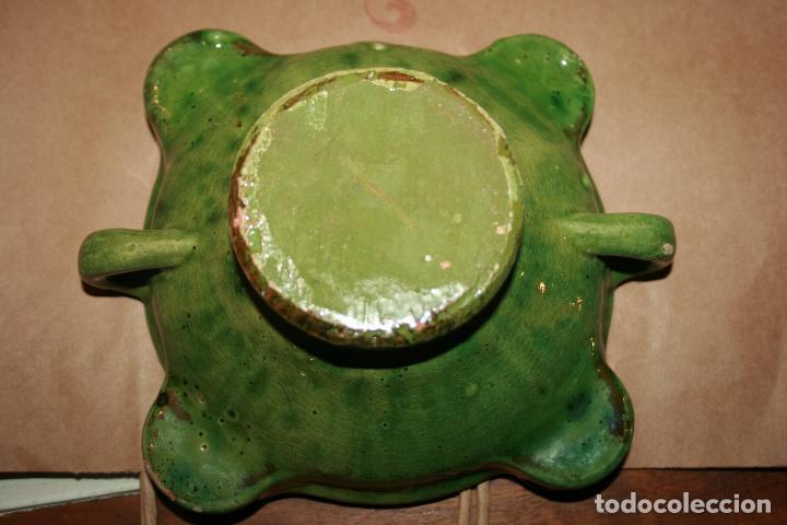 Antigüedades: Albacete,La Roda. Cuervera cenicero Simposio Rodense año 1975.color verde muy bonito 15 x 6 cms - Foto 6 - 99381123