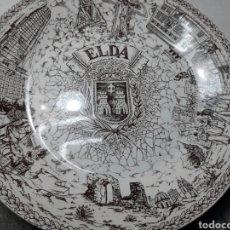 Antigüedades: PLATO PORCELANA DEDICADO A ELDA POR CAJA DE AHORROS DE ALICANTE Y MURCIA PONTESA ROYAL CHINA. Lote 99395150