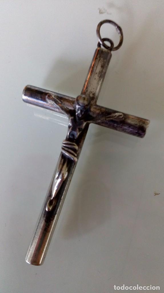 Antigüedades: Cruz de plata - Foto 5 - 99401379