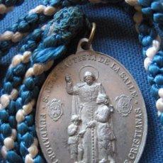 Antigüedades: MEDALLA CON CORDON DE LA CONGREGACION DE MARIA INMACULADA Y SAN JUAN BAUTISTA DE LA SALLE. Lote 99416651