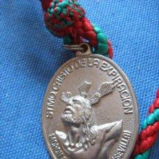 Antigüedades: MEDALLA CON CORDON DE HDAD DEL CRISTO DE LA EXPIRACION DE MORON DE LA FRONTERA - SEVILLA. Lote 99417407