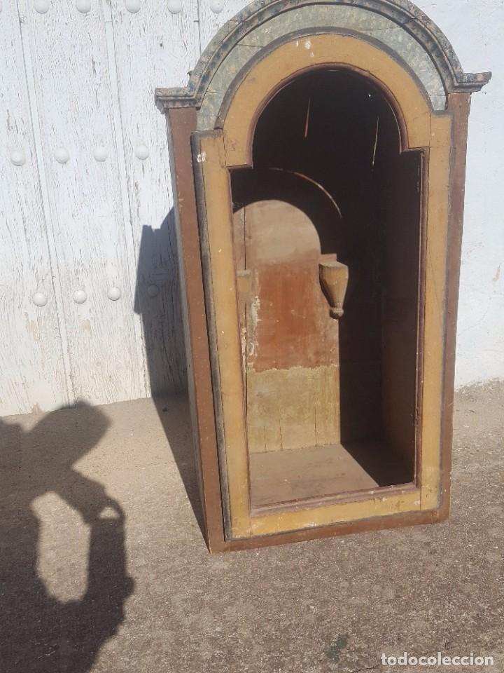 HORNACINA MARMOLEADA MUY ANTIGUA (Antigüedades - Muebles Antiguos - Vitrinas Antiguos)