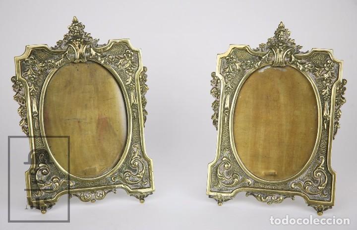 pareja de marcos portaretratos de bronce - medi - Comprar Marcos ...