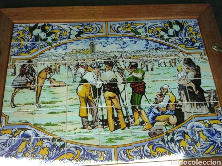 BANDEJA AZULEJOS DE LA FERIA DEL GANAO (Antigüedades - Porcelanas y Cerámicas - Otras)