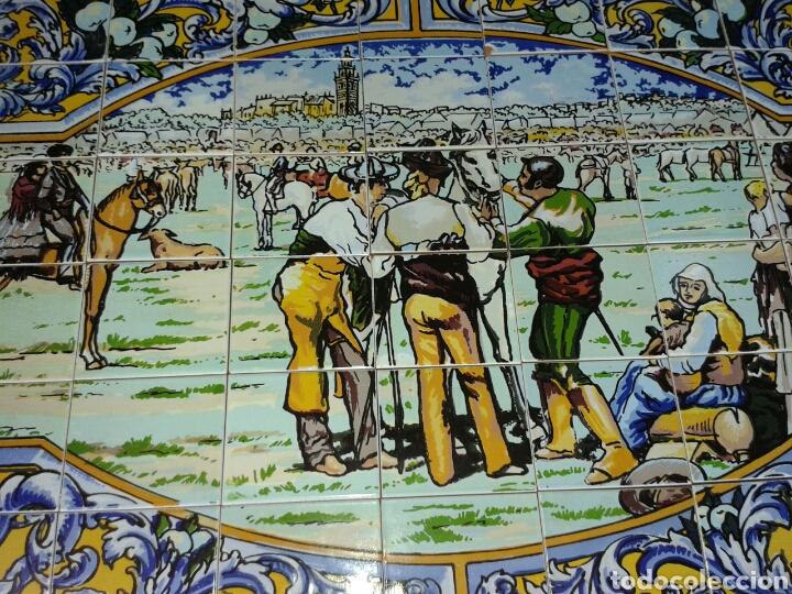 Antigüedades: BANDEJA AZULEJOS DE LA FERIA DEL GANAO - Foto 2 - 99442668