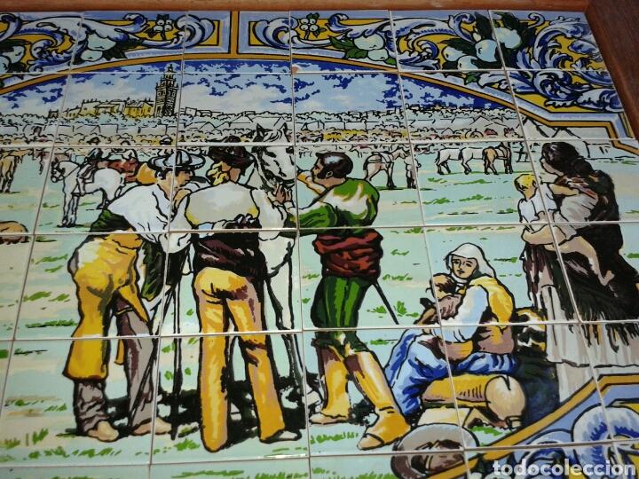 Antigüedades: BANDEJA AZULEJOS DE LA FERIA DEL GANAO - Foto 6 - 99442668
