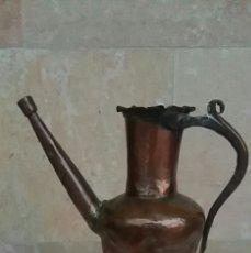 Antigüedades: ANTIGUA ACEITERA DE COBRE . Lote 99468920