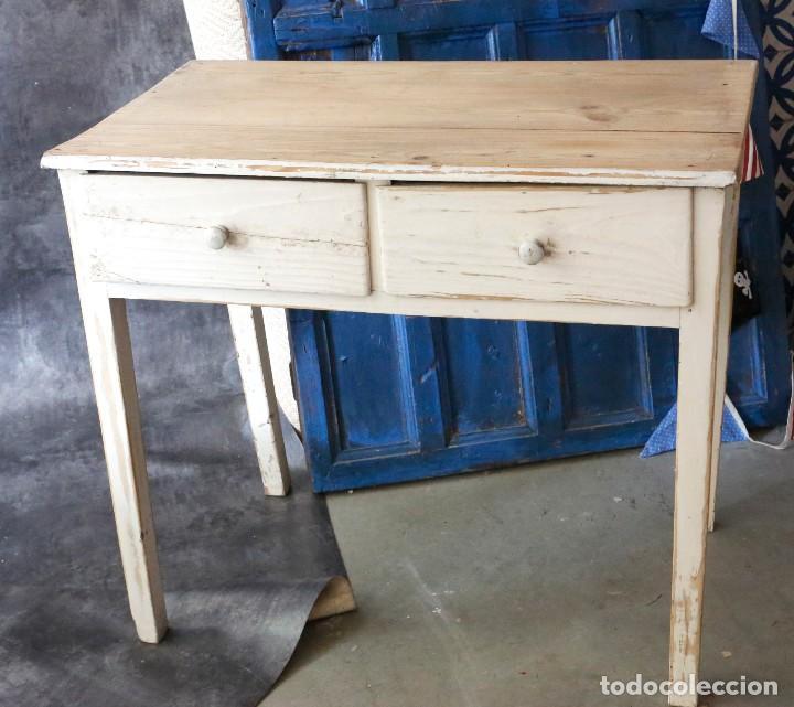Mesa de cocina antigua, madera maciza. ver imag - Vendido en Venta ...