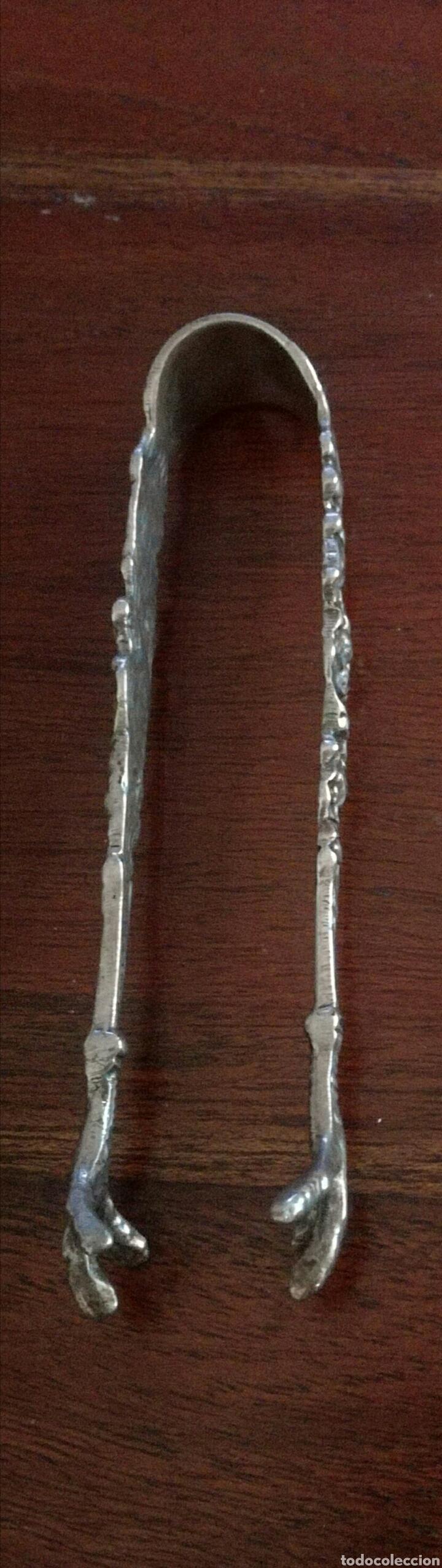 Antigüedades: Pinzas de plata para azucarero - Foto 3 - 76721186
