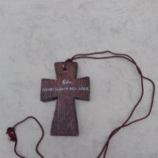 Antigüedades: CRUZ RECUERDO DE SANTILLANA DEL MAR - MADERA - 7 X 4.5 CM.. Lote 99486199