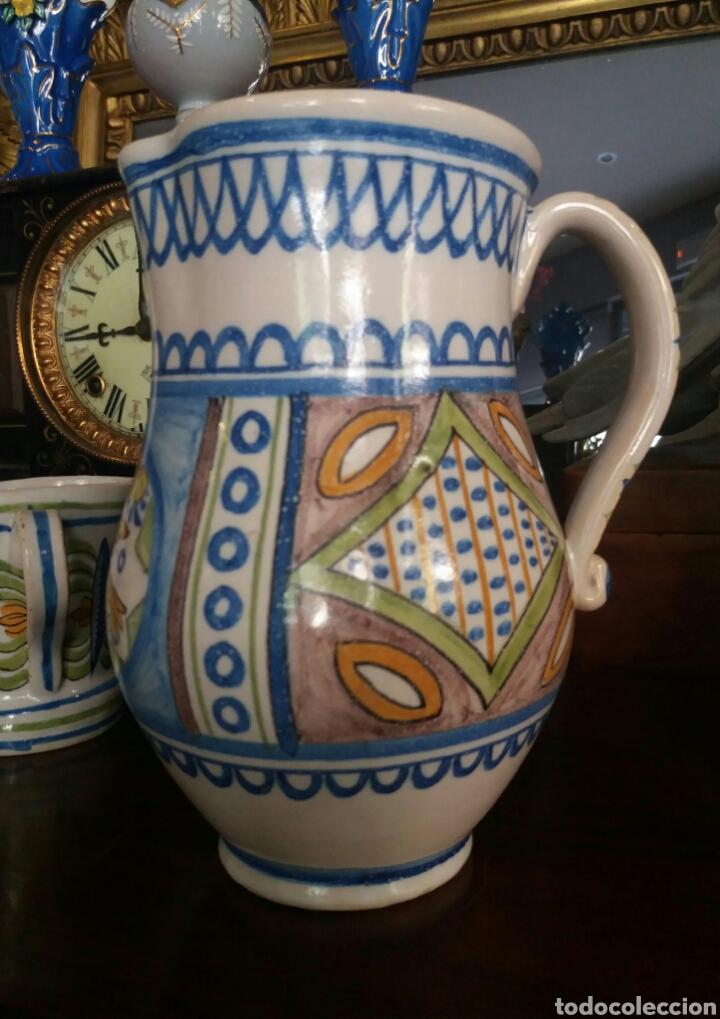 ANTIGUA JARRA CERÁMICA GIMENO (MANISES) (Antigüedades - Porcelanas y Cerámicas - Manises)