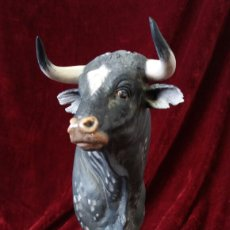 Antigüedades: TORO DE PORCELANA ALGORA . Lote 99511403