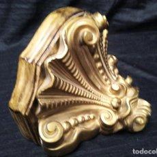 Antigüedades: PEANA PARA IMAGEN DE ESCAYOLA POLICROMADA. Lote 99518855