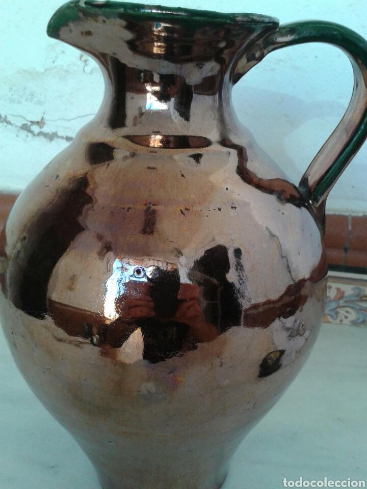 ANTIGUA JARRA DE CERAMICA DE REFLEJOS FABRICADO TRIANA (Antigüedades - Porcelanas y Cerámicas - Triana)