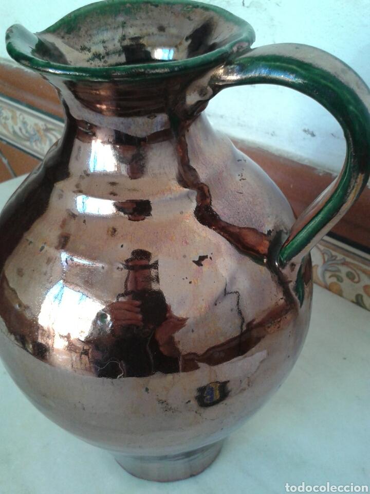 Antigüedades: ANTIGUA JARRA DE CERAMICA DE REFLEJOS FABRICADO TRIANA - Foto 2 - 99526676