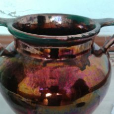 Antigüedades: ANTIGUA ORZA EN CERAMICA DE TRIANA. Lote 99527367