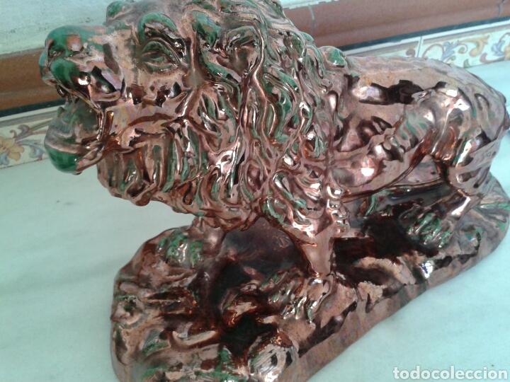 Antigüedades: ANTIGUA FIGURA EN CERAMICA DE REFLEJOS - Foto 2 - 99528702