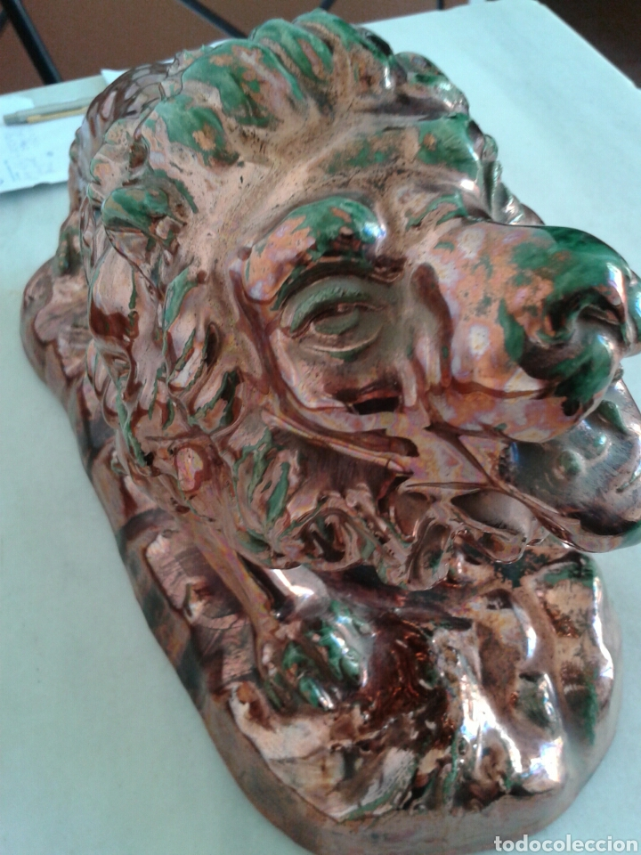 Antigüedades: ANTIGUA FIGURA EN CERAMICA DE REFLEJOS - Foto 4 - 99528702