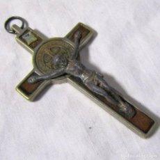 Antiquitäten - Crucifijo 1880 Madera noble, bronce y plomo bañado - 99553587