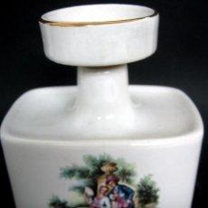 Antigüedades: BELLO BOTE DE TOCADOR PORCELANA SANTA CLARA. Lote 99555575