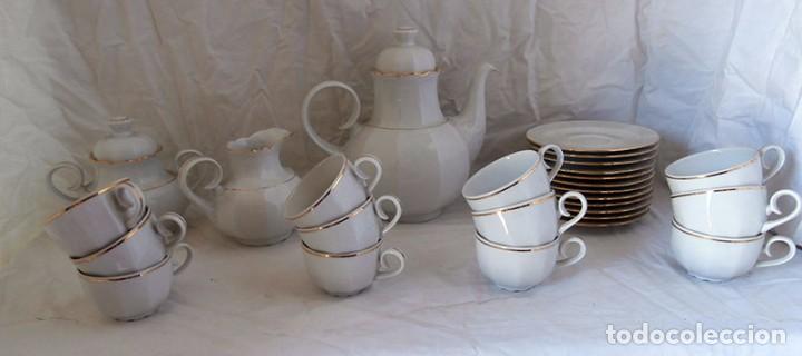 JUEGO CAFÉ 12 SERVICIOS CERÁMICA SANTA CLARA (Antigüedades - Porcelanas y Cerámicas - Santa Clara)