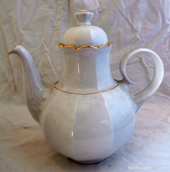 Antigüedades: JUEGO CAFÉ 12 SERVICIOS CERÁMICA SANTA CLARA - Foto 3 - 99556115