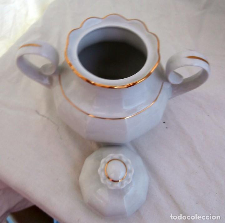 Antigüedades: JUEGO CAFÉ 12 SERVICIOS CERÁMICA SANTA CLARA - Foto 8 - 99556115