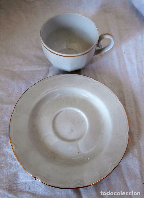 Antigüedades: JUEGO CAFÉ 12 SERVICIOS CERÁMICA SANTA CLARA - Foto 10 - 99556115