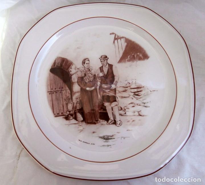 BANDEJA DECORATIVA DE CERÁMICA PONTESA (Antigüedades - Porcelanas y Cerámicas - Otras)