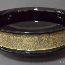 Antigüedades: CENTRO DE CRISTAL TALLADO DE MOSER. Lote 99566231