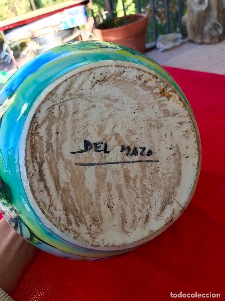 Antigüedades: Botijo de cerámica puente del arzobispo DeL mazo motivos ciervo caza 21x21 aproximadamente - Foto 19 - 99579483