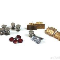Antigüedades: LOTE DE 14 GEMELOS. METAL PLATEADO Y DORADO. DIFERENTES ESTILOS. SXX.. Lote 99643219