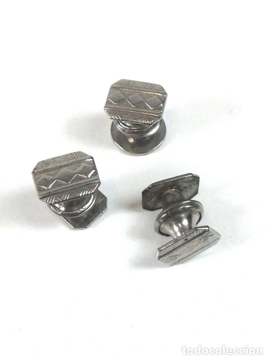 Antigüedades: LOTE DE 14 GEMELOS. METAL PLATEADO Y DORADO. DIFERENTES ESTILOS. SXX. - Foto 5 - 99643219