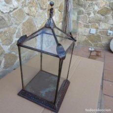 Antigüedades: FAROL DE HOJADELATA ANTIGUO . Lote 99645835
