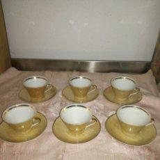 Antigüedades: JUEGO DE CAFE DE 6 SERVICIOS VINTAGE. Lote 99648000