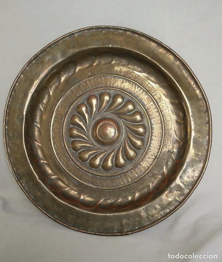 PLATO LIMOSNERO SIGLO XIX (Antigüedades - Hogar y Decoración - Platos Antiguos)