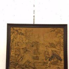 Antigüedades: TAPIZ FIRMADO POR D'APRÉS MEISSONIER. Lote 99671263