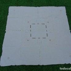 Antigüedades: PRECIOSO MANTEL DE TE BORDADO A MANO --- MEDIDAS 1.05*1.05 CM . Lote 99678431