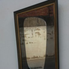 Antigüedades: ANTIGUO ESPEJO ASIMETRICO ROCKABILLY SHABBY VINTAGE AÑOS 50 MIDE 78 X 48 CM. Lote 99685288