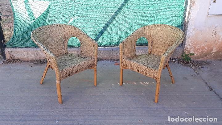 dos sillas de mimbre pareja de sillones de jard - Comprar Sillas ...