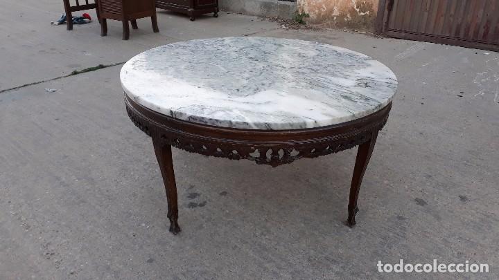 Mesa de centro de sal n de m rmol mesa antigua comprar for Mesas de centro antiguas