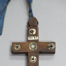 Antigüedades - ANTIGUA CRUZ RELICARIO. MADERA Y NACAR. JERUSALEN. SIGLO XVIII-XIX - 99710423